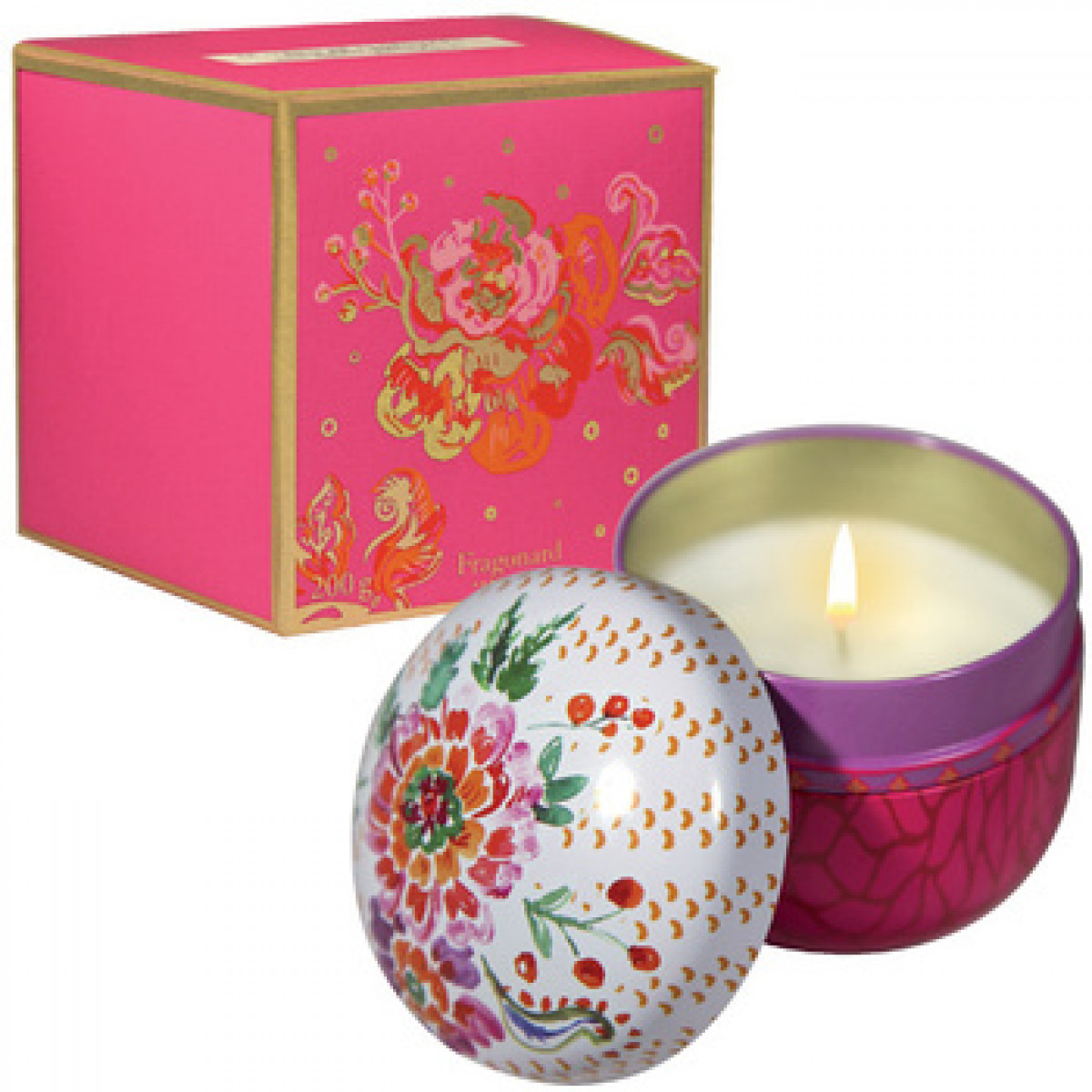 Fragonard Home Fragrance Bougie Parfumée Laurier Rose Cèdre 200
