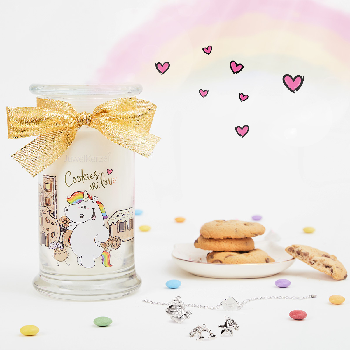 Bougie JewelCandle Cookies Are Love avec Bijou