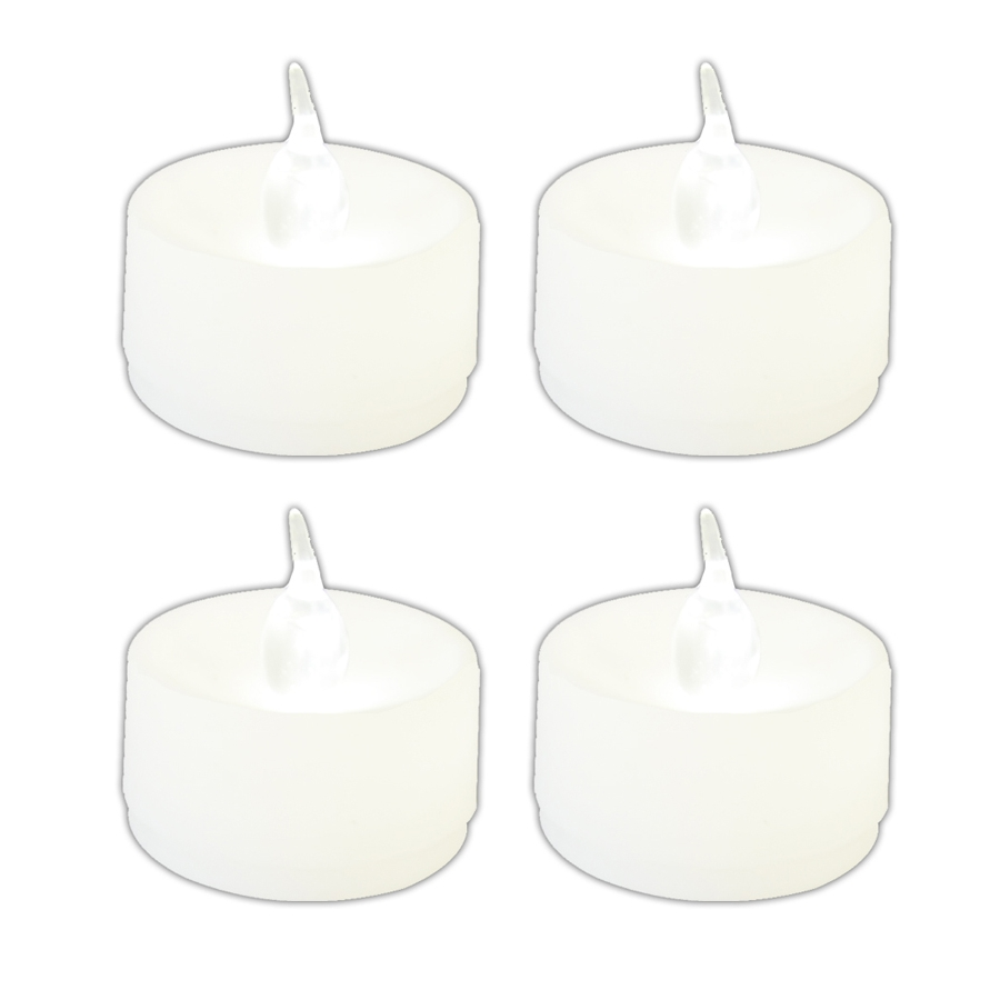 4 petites bougies led blanches