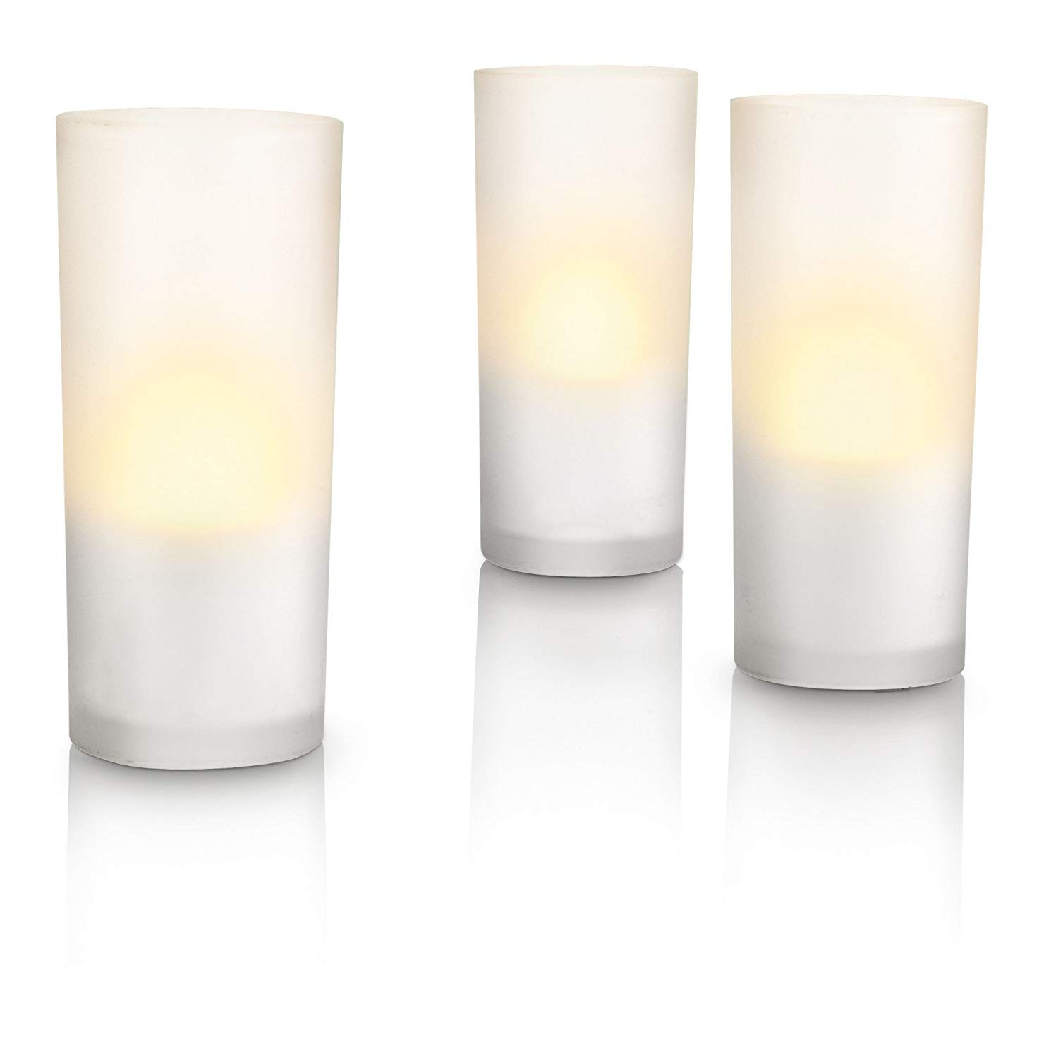 Philips Imageo CandleLights 3 Bougies LED Photophores Blanc Luminaire d'ambiance design Base de recharge (grise ou blanche)