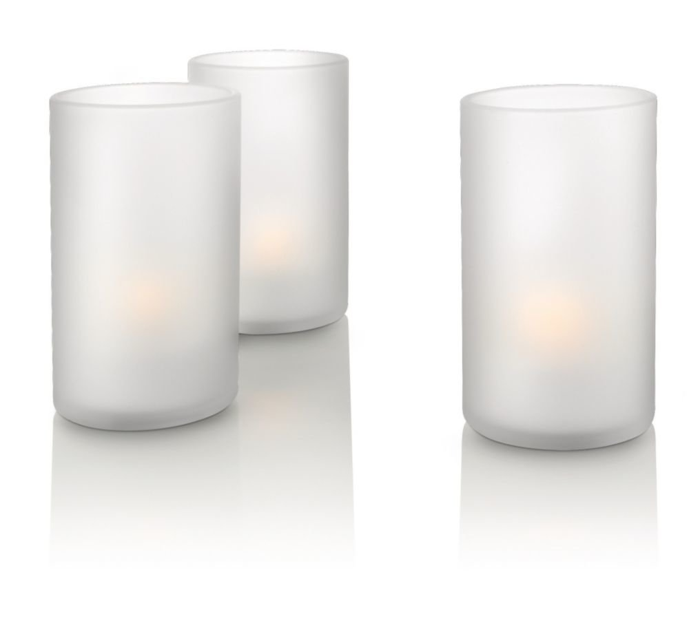Philips Imageo CandleLights 3 Bougies LED Photophores Blanc Luminaire d'ambiance design