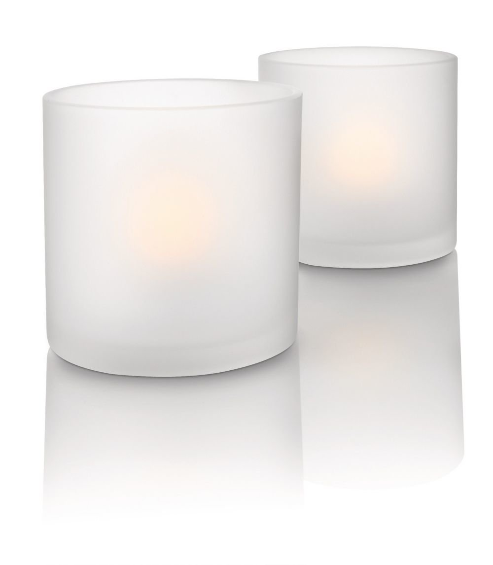 Philips Imageo CandleLights 2 Bougies LED Photophores Blanc Luminaire d'ambiance design