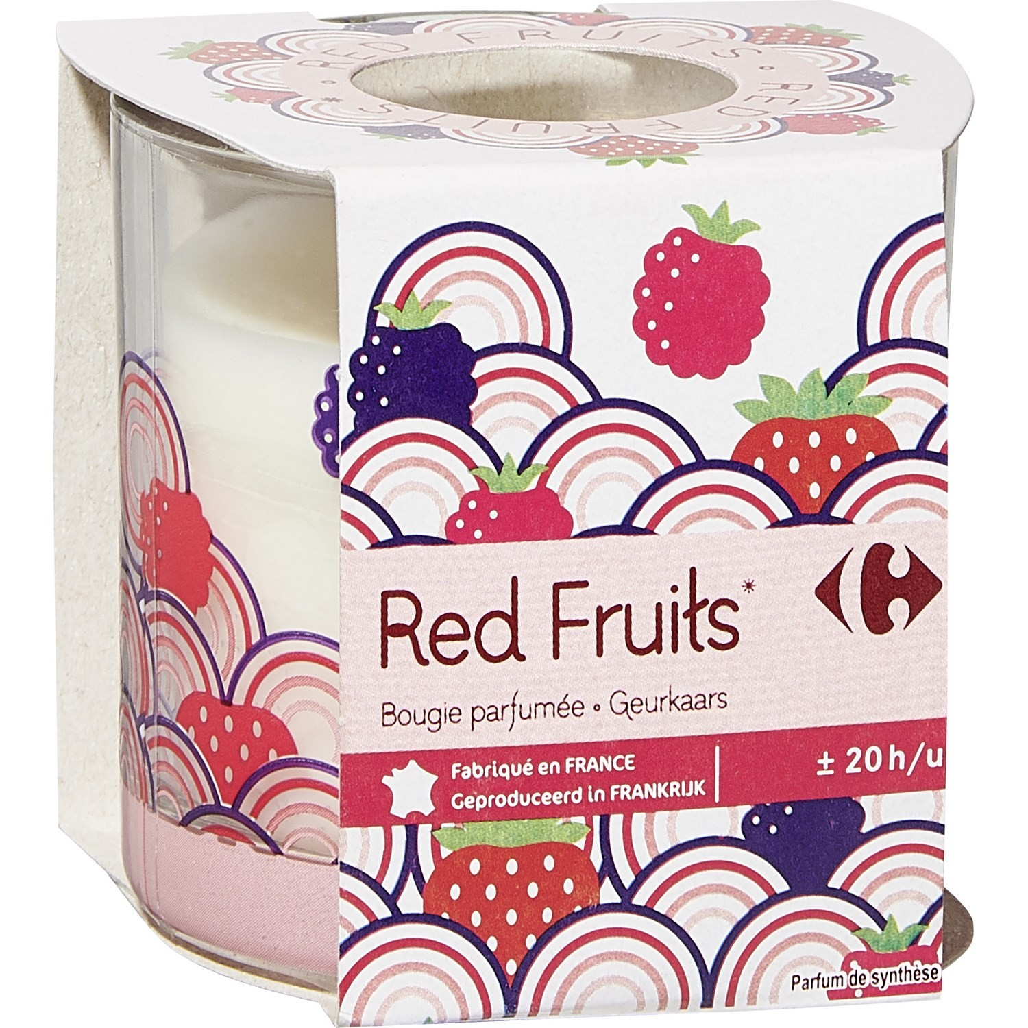 Bougie parfumée Red Fruits CARREFOUR : la bougie de 100g à Prix Carrefour